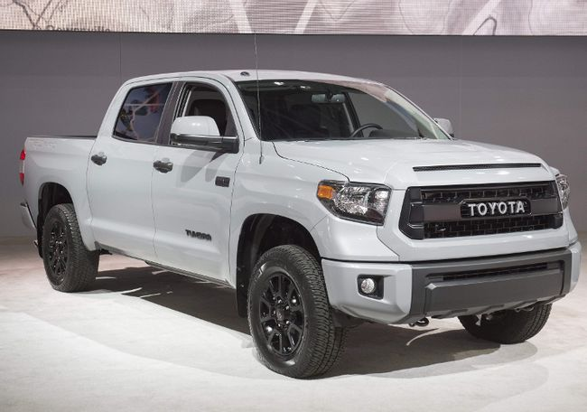 The Toyota Tundra pickup truck is seen during the 2017 North American International Auto Show in Detroit, Michigan, Jan. 10, 2017. (SAUL LOEB/AFP/Getty Images)