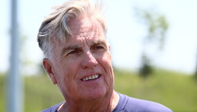 Toronto Argonauts GM Jim Barker speaks to media after receiving a contract extension on June 22, 2015. (Dave Abel/Toronto Sun/Postmedia Network)