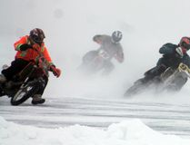 A blanket of fog didn't stop the Ice racing season from kicked off on Pigeon Lake at Mulhurst Bary Jan. 22. Next race is set to take off Jan. 29.