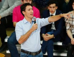 Prime Minister Justin Trudeau speaks at a town hall meeting at the University of Calgary in Calgary, Alta., Tuesday, Jan. 24, 2017. THE CANADIAN PRESS/Todd Korol