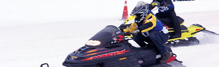 Sean Chase/Daily ObserverJoel Guillemette rips down the track during the 33rd annual Cabin Fever Snow Drags Saturday in Petawawa.