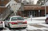 A police cruiser remained outside the London Jewish Community Centre on Huron Street Tuesday, Jan. 31 after a bomb threat forced the evacuation of the building and a nearby apartment. (MORRIS LAMONT, The London Free Press)