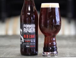 Forked River Brewing Company's Red Coat, a hoppy Canadian red ale.