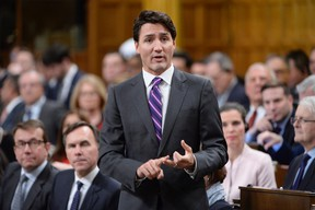 Prime Minister Justin Trudeau answer a question during Question Period in the House of Commons in Ottawa, Tuesday, Jan.31, 2017. (THE CANADIAN PRESS/Adrian Wyld)