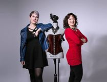 Fashion designers Nadine Deslauriers-Friesen (right) and Cassandra Newton (left) will be offering a sneak-peek preview of their upcoming fashion line. Photography by Cindy Couture Photography.