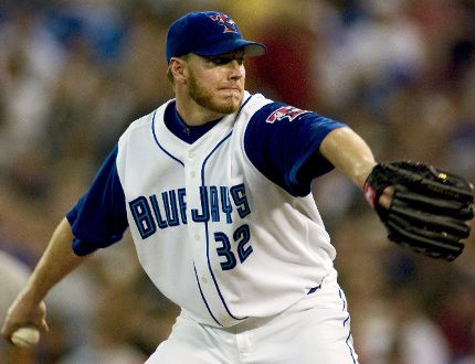 Blue Jays Roy Halladay pitches against New York Yankees in Skydome July 12, 2003. (File photo)