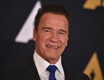 "In this Nov. 12, 2016 file photo, Arnold Schwarzenegger is seen in Los Angeles. President Donald Trump is seeking prayers for Schwarzenegger over ratings for ""Celebrity Apprentice,"" the show Trump once hosted. Addressing the National Prayer Breakfast in Washington, Thursday, Feb. 2, 2017, Trump said ratings went ""right down the tubes"" and the show's been a ""total disaster"" since the actor and former California governor debuted as host last month. (Photo by Jordan Strauss/Invision/AP, File)"