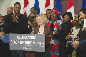 Premier Rachel Notley commenced the celebration of Black History Month in Alberta during a press conference in Edmonton on Jan. 31. | Contributed photo/Government of Alberta