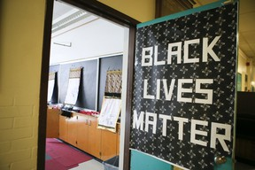 Black Lives Matter classroom inside the Vaughan Rd Academy on Wednesday July 13, 2016 in Toronto. (Veronica Henri/Postmedia Network)