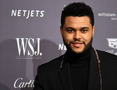 "The Weeknd is pictured at the WSJ Magazine 2016 Innovator Awards at Museum of Modern Art in New York City on Nov. 2, 2016. (Ivan Nikolov/<A HREF=""http://www.wenn.com"" TARGET=""newwindow"">WENN.COM</a>)"