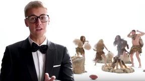 Justin Bieber stars in a T-Mobile ad that aired during Sunday's Super Bowl. (screengrab)