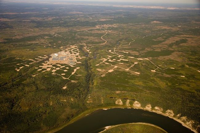 An aerial view of the Shore Gold's Star-Orion South project north of Melfort.