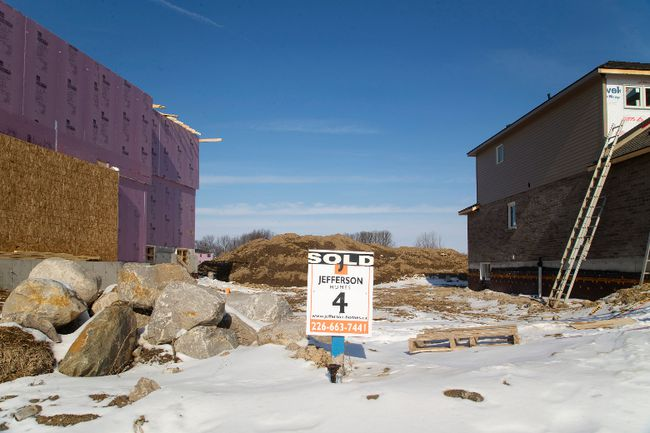 Trevor McKenzie, president of the London Home Builders' Association (LHBA), said members are concerned and working with city officials on getting more serviced lots on the market. (MIKE HENSEN, The London Free Press)
