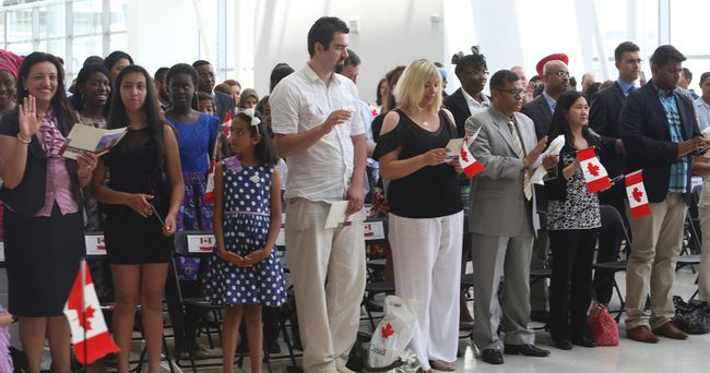 Pearson International Airport Citizenship Ceremony. (Jack Boland/Toronto Sun)
