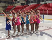 The Cold Lake Figure Skating Club's starskaters brought home a total of 16 medals during the Peace Region Open in Grande Prairie. Left to right: Aliya Coish, Rilynn Jalbert, Kyla Rupp, Hailey Nuttall, Grace Fedor, Brooklyn Graveson, Kalee Rupp, Tanna Riach.