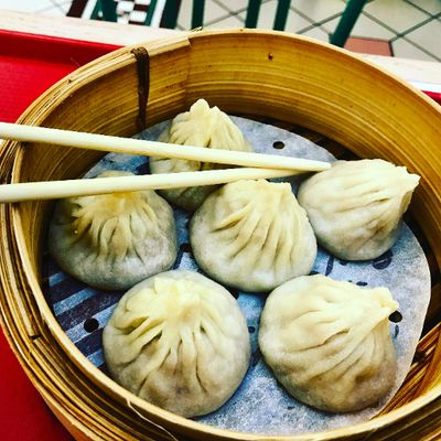 1057: Xiao Long Bao are marvellous dumplings served with soup and meat. Take a bite from the bottom and slurp out the soup before popping the whole thing in your mouth. JIM BYERS PHOTO