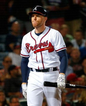 Braves slugger Freddie Freeman will play for Team Canada at the World Baseball Classic beginning next month. (Kevin C. Cox/Getty Images/Files)
