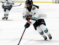 Defenceman Kaitlyn Isaac of Wallaceburg plays in the Provincial Women's Hockey League with the Bluewater Hawks. (Contributed Photo)