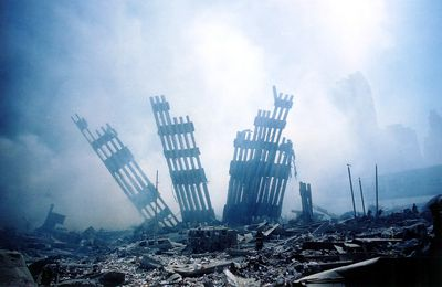 (FILES) This file photo taken on September 11, 2001 shows  the rubble of the World Trade Center smouldering following the collapse of the towers. The Twin Towers of the World Trade Center which were struck by hijacked airplanes collapsed on that day claiming 2,753 lives. September 6, 2016 marks the fifteenth anniversary of the event. / AFP PHOTO / ALEXANDRE FUCHSALEXANDRE FUCHS/AFP/Getty Images