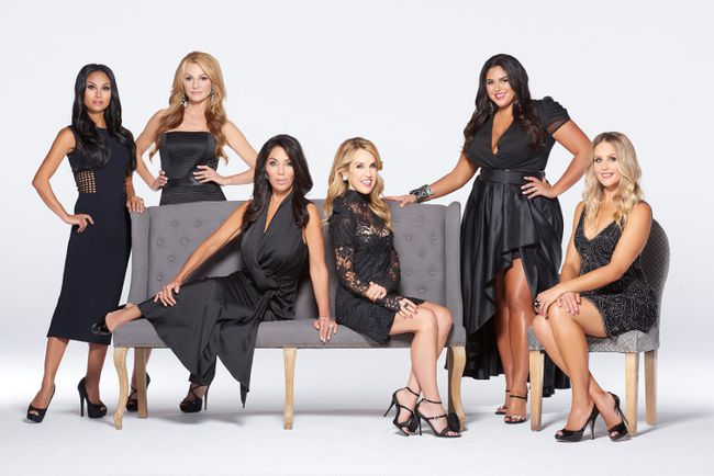 "The cast of ""The Real Housewives of Toronto"" (L-R): Gregoriane (Grego) Minot, Joan Kelley Walker, Ann Kaplan Mulholland, Kara Alloway, Roxy Earle and Jana Webb. (Handout)"