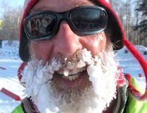 Seventy-two-year-old skier Basil Delaney. Photo supplied