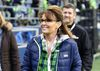In this Dec. 15, 2016 file photo, Sarah Palin, political commentator and former governor of Alaska, walks on the sideline before an NFL football game between the Seattle Seahawks and the Los Angeles Rams, in Seattle. (AP Photo/Scott Eklund, File)