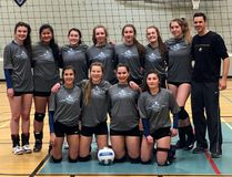 The TH&VS Blues senior girls volleyball team smashed their way to gold at the St. Benedict's Classic in Sudbury last weekend. Pictured are, back row, from left: Andi Schryburt, Risa Fennuk, Hannah Yee, Robyn Armstrong, Hunter Millions, Lauren Robertson, Kate Floreani and coach Kris Koskela; front row, from left: Andrea Pintar, Isabella Semadeni, Morgan Oreskovich and Olivia Floreani. SUPPLIED PHOTO/THE DAILY PRESS