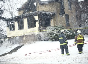 Fire in Egmondville is a total loss says Marty Bedard, the Fire Chief for Huron East. (Shaun Gregory/Huron Expositor)
