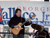 In this Feb. 18, 2006 file photo, Rick Derringer performs during a campaign rally kicking off George Wallace Jr's bid for the office of lieutenant governor in Montgomery, Ala. (AP Photo/Rob Carr)