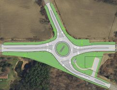 In mere months, St. Thomas' oldest traffic signal will be reborn as a $2.1 million roundabout. The intersection, which links Colonel Talbot Rd., Talbot St., Sunset Dr. and Wellington Rd., is slated for an ambitious redevelopment set to begin this spring. (Contributed Photo/City of St. Thomas)