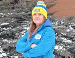 Stratford/Perth Shelterlink executive director Bev Hagedorn is ready for The Coldest Night of the Year Feb.25. LAURA CUDWORTH/The Beacon Herald