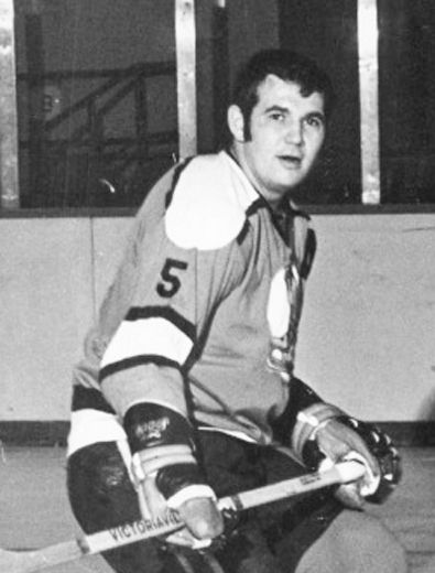 Shown in this publicity shot as a member of the minor-pro Denver Spurs (1968-71), former longtime Belleville Bulls GM-coach Larry Mavety appeared in the 1977 hockey movie Slap Shot while playing in Binghamton. The film celebrates its 40th anniversary this month. (Getty Images)