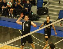 Levi Brunner and the Keyano Huskies men's volleyball team finished the season with a 22-2 record, heading into ACAC playoffs as the top seed in the North Division. Robert Murray/Fort McMurray Today/Postmedia Network