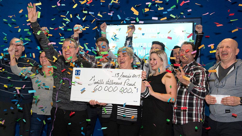 Lotto winners Carl Villeneuve and Marie-Josee Picard