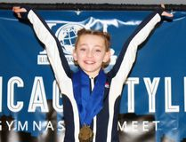 Tanner Hibma-Powell, of Petrolia, won gold medals in all of her categories at the Illinois Gymnastics Institute's Chicago Style meet. The Grade 4 Hillcrest Public School student earned 9.9 in vault, 9.7 in bars, 9.650 in beam, 9.550 in floor and 38.675 in all-around this past weekend at Chicago's Navy Pier. Her all-around performance was second out of 441 competitors, just below All-American Flames Gymnastix teammate Alexis Cole. Handout/Sarnia Observer/Postmedia Network