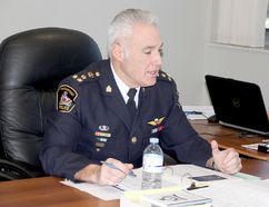 Chatham-Kent Police Chief Gary Conn speaks about ATVs during Tuesday's police services board meeting. (Trevor Terfloth/The Daily News)