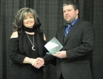 Tracy Collison, left, was acknowledged for business excellence for her store, Gypsy Moon Herbal Shoppe, by the Nipawin and District Chamber of Commerce on Saturday, February 11.