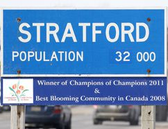 Recent census information indicates Stratford's population growth is below the national and provincial averages. (MIKE BEITZ/The Beacon Herald)