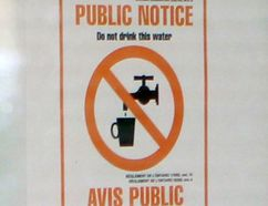 Water warnings were posted at Valley Heights Secondary School in Walsingham this week after samples taken Monday came out of the tap cloudy. LAURA BROADLEY/SIMCOE REFORMER
