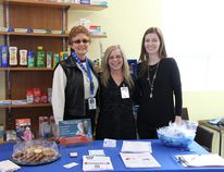 From left to right, Lorraine Walne, volunteer; Karla Brzozowski, co-ordinator for clients services; and Tiffany Hodges, pharmacist at the Delaware Pharmacy, during Delaware's first blood pressure clinic grand opening.