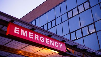 An emergency department sign ER hospital