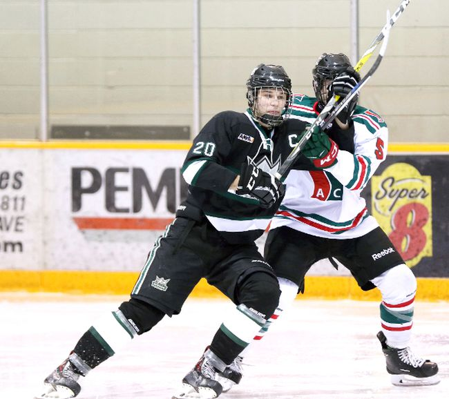 Sherwood Park Midget AAA J. Ennis Kings captain Nick Mantai and his squad have earned a first round bye through the Alberta Midget Hockey League playoffs on the strength of their 23-6-3 record. Photo Courtesy Target Photography