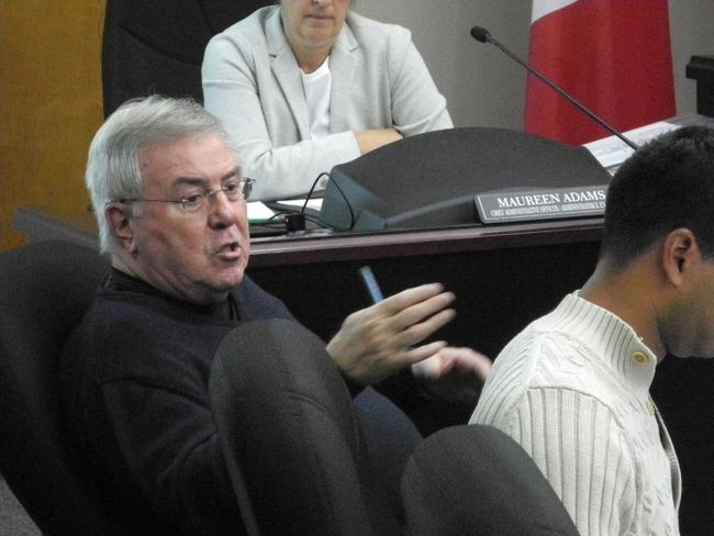 <p>Cornwall Coun. Denis Carr makes a point during a budget committee meeting on Thursday February 16, 2017 in Cornwall, Ont. </p><p>