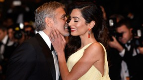 George and Amal Clooney. (Clemens Bilan/Getty Images)