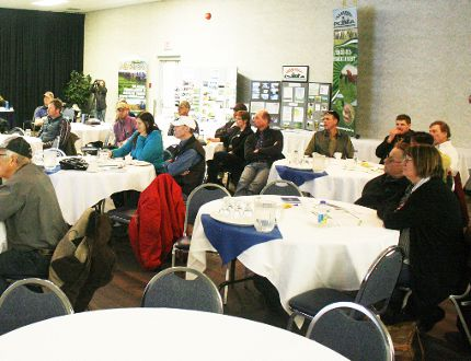 A good crowd gathered in Fairview Feb. 7 for the Peace Country Beef Cattle Day. Chris Eakin/Postmedia