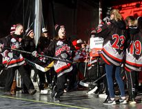 The Cochrane Rockies bantam girl's hockey team cheer their way to represent in the Hometown Hockey's Cheer Like Never Before contest on Sunday as Sportsnet made its way to Cochrane.