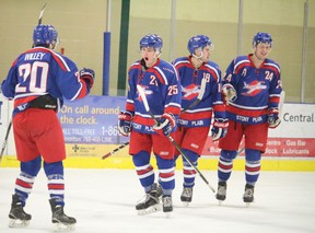 The Stony Plain Flyers swept the St. Albert Merchants in their CJHL first round playoff series last weekend with a 9-3 road win followed by a tense 5-3 home victory on Feb. 12. -  File Photo