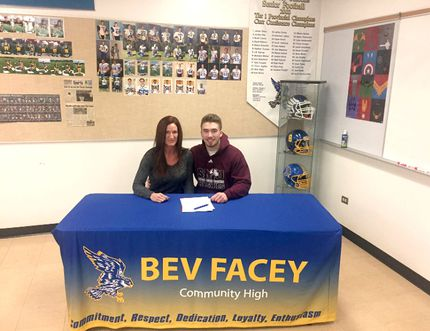 Bev Facey's Chase Avery recently signed a scholarship deal with St. Mary's University. Photo supplied
