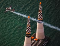 Pete McLeod of London, Ont. performs during the finals at the first stage of the Red Bull Air Race World Championship in Abu Dhabi, United Arab Emirates on February 11, 2017. (Photo courtesy Daniel Grund/Red Bull Content Pool)
