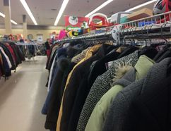 Forgotten coats in Kingston follow a path from the bars where they're left behind through Value Village to the Kingston Street Mission. (Rachel Levy-McLaughlin/For The Whig-Standard)